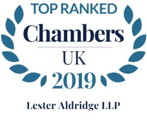 Top Ranked Chambers UK 2019 Lester Aldridge LLP logo