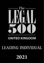The Legal 500 UK 2021 logo Leading Individual