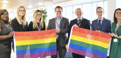 Lester Aldridge celebrates Bournemouth Pride 2019