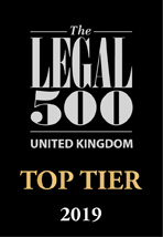 Legal 500 2019 Top tier firm logos