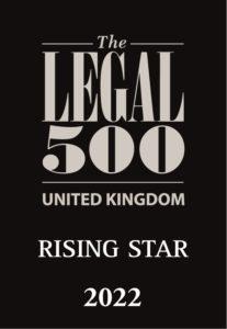 Legal 500 2022 Rising Star