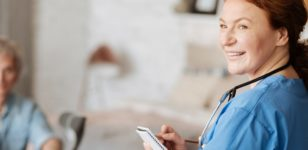 smiling-nurse-taking-notes-health-solicitors-bournemouth