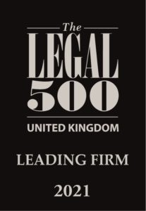 The Legal 500 UK 2021 logo Leading Firm