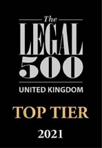 Legal 500 UK 2021 Top Tier logo