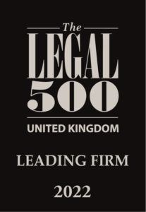 Legal 500 2022 Leading Firm