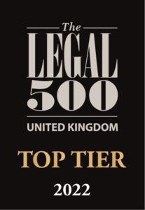 Legal 500 2022 Top Tier